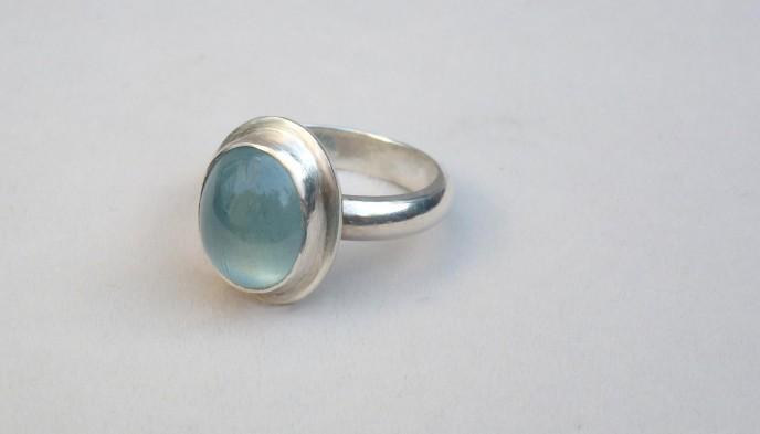 aquamarine ring size O