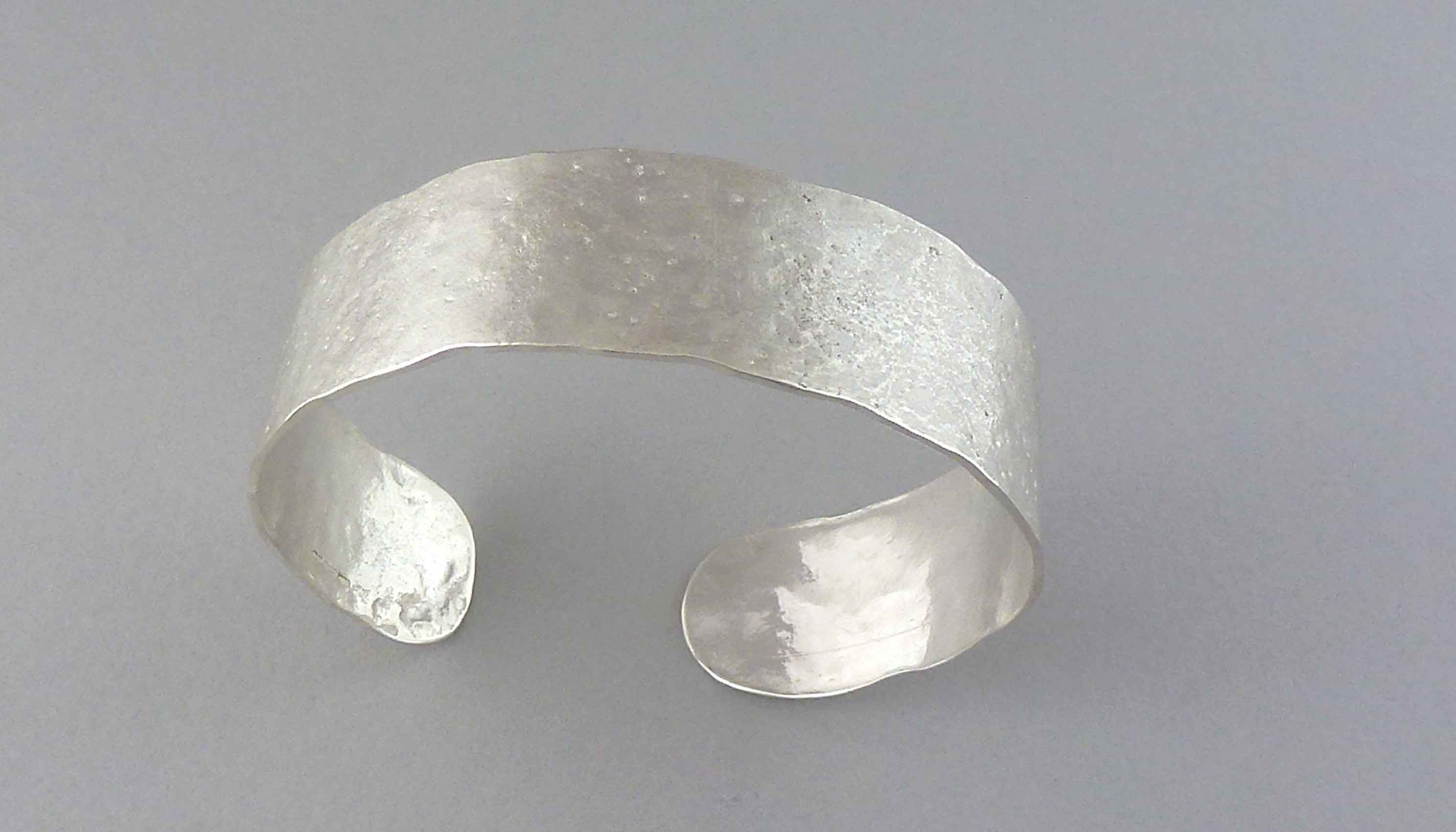 reticulated silver cuff