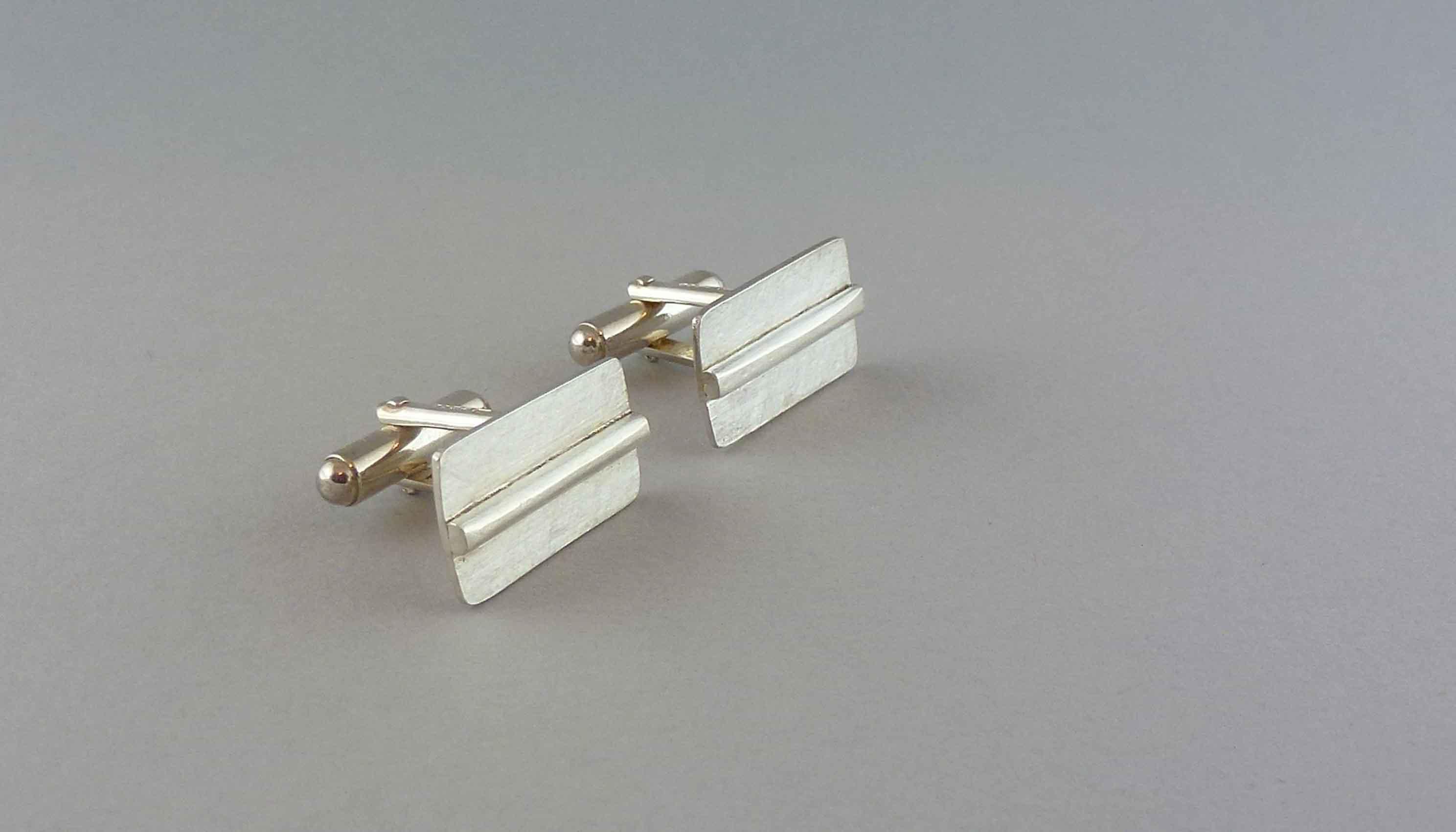rectangular-silver-cufflinks