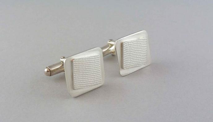 small-silver-square-cufflinks
