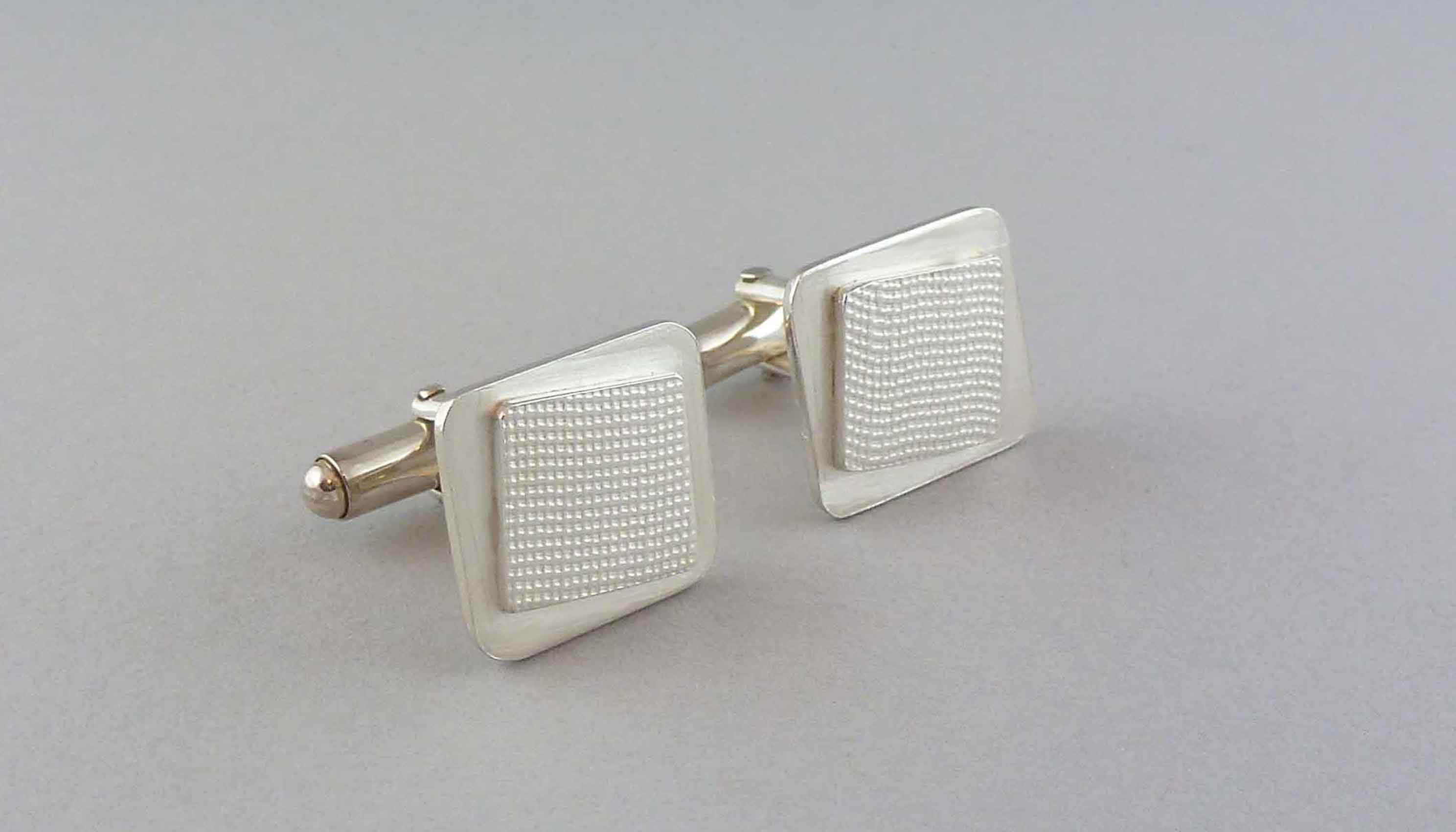 small-silver-square-cufflinks