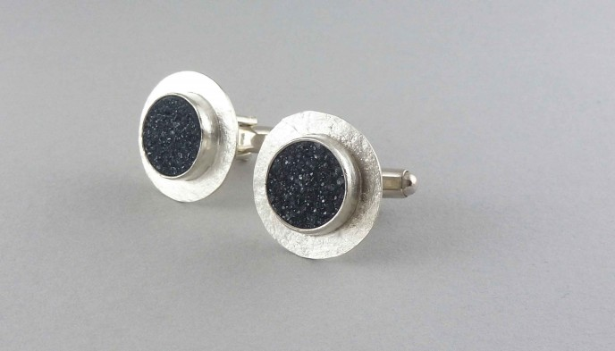 silver-black-druzy-cufflinks